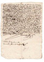 1682 manuscript document LOUIS XIV royal notary signature authentic