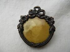 Ancien cadre photo broche Métal argenté noeud Louis XVI , petite photo souvenir