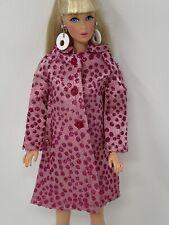 RARE Sears Vintage Mattel Barbie Clothes Doll Fashion Bouquet PINK SPARKLE COAT