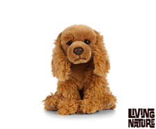 LIVING NATURE COCKER SPANIEL - AN457 REALISTIC DOG CUDDLY SOFT TOY WITH TAG NEW