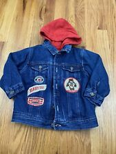 Vtg Baby Taz Looney Tunes Jean Jacket Sweater Lined Sz 24 Months AN