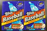 1993 Topps Gold (Lot of 2) Series 1 MLB Baseball Picture Cards Sealed Wax Packs