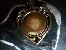 Antiker-Jugendstil-Anhänger-Medaillon-Kind-Bild-1900-1910