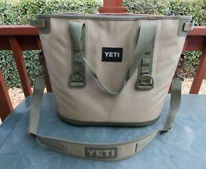 Yeti Hopper 30 Portable Soft Cooler Field Tan/Blaze Orange