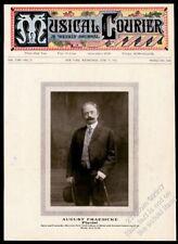 1912 August Fraemcke photo Musical Courier framing cover