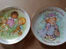 Vintage Cherished Moments: 1981 Mother's Day Plate -1983 Mother's Day plate