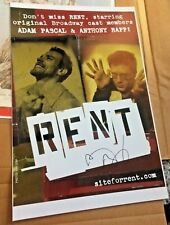 RENT Live Anthony Rapp SIGNED The Broadway Tour Promotional Photo Poster! Mark