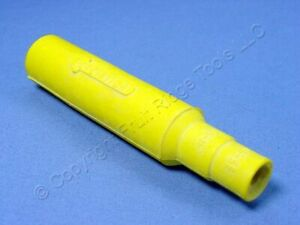 New Leviton Yellow Cam-Type Plug Insulating Sleeve Male ECT 15 Series 15SDM-48Y