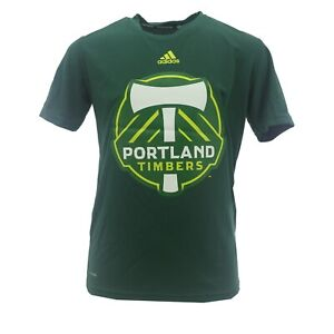 MLS Adidas Portland Timbers Kids Youth Size Official Athletic ClimaLite Shirt