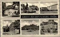 Ronneburg Thüringen DDR s/w Mehrbild AK 1968 OdF Denkmal Krankenhaus Schule uvm.