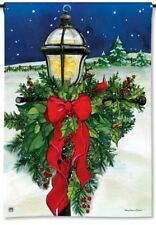 "Home For The Holidays Christmas Lamp Post Small Decorative Banner Flag 12.5""x18"""