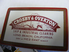 Vintage 50s Advertising playing cards Crosby & Overton Ship Industrial Cleaning