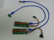 USB 3.0 PCI-E Express 2x To 16x GPU Extender Riser Card Adapter Power Cable
