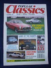 Popular Classics magazine- September 1990 - Karmann - Volvo - racing on a budget