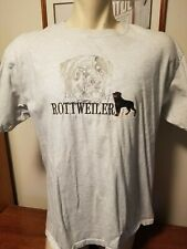 Vintage 90s Anvil Rottweiler Shirt Sz XXL Embroidered Used.