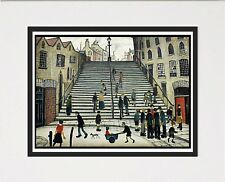 """L S Lowry painting """"Steps At Wick"""" Home Decor picture print wall hanging"""