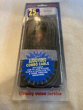 QVS RCA3AV-25 25 ft. Triple-RCA Composite Audio & Video Cable