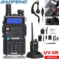 BAOFENG UV-5R Dual Band VHF UHF Walkie Talkie Hand Funkgeräte Radio Schwarz DE
