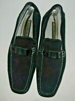 Stacy Adams Mens Black Suede Leather Loafers Shoe Size 12M