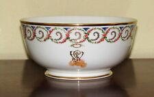 "Lenox 'General Washington Monogram' Smithsonian Bowl Florals Excellent 8.25"""