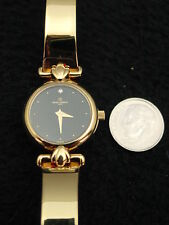 Vintage French Michel Herbelin Ladies Watch Faux Diamond Gold Bracelet ExCs