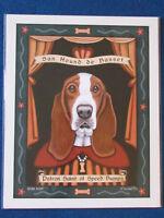 "Retro Pets Dog Art Print - 10""x8"" - Krista Brooks - Basset Hound"