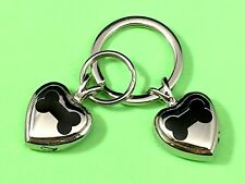 """Keyring Urn .5"""" Key Chain Dog Cremation Pendant Holds Ashes Pet Bone In My Heart"""