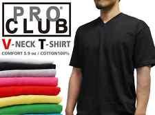 3 PACK New Plain Solid Basic Blank V-NECK T-shirt men's Comfort Casual S -3XL