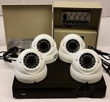 *PROFESSIONAL-HDCVI-1080P 2.4MP 4VF 2.8-12MM WHITE SECURITY CAMERA KIT+POWER+1TB