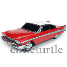 Autoworld Christine 1958 Plymouth Fury 1:18 Nighttime Version Red Awss102