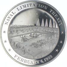 Sterling Silver - Naval Limitation Treaty - 925 - 39 Grams Round/Art Bar *393