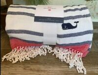 VINEYARD VINES for Target STRIPED THROW BLANKET - Navy/Red  (NWT New )