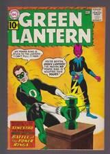 Green Lantern # 9  Battle of the Power Rings !  grade 6.0 scarce book !