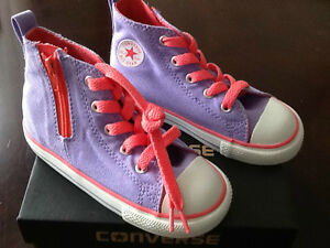 Converse Infant/toddler Girls Lavender Hi-Top Shoes/ Size: 6, 7, 9 and 10 NWT