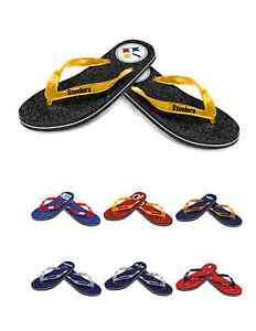 NFL Football Womens Ladies Glitter Thong Flip Flops Sandals - Pick Your Team!