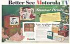 1952 Motorola TV Television Clock Radio 62C 52CW 52B 62CW PRINT AD