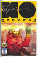 X-O Manowar 1 Valiant Golden Apple Wondercon Bill Sienkiewicz Variant Signed