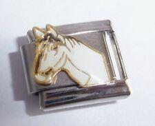 WHITE HORSE Italian Charm I Love My Pony Rider 9mm fits Classic Starter Bracelet