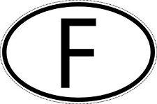 """Frankreich Länderkennzeichen """"F"""" 10x6,5cm Auto PKW Kennzeichen Sticker"""