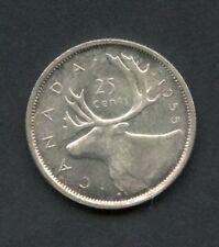 CANADA 1955 SILVER TWENTY-FIVE CENT COIN   HAVE FUN BIDDING