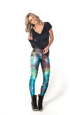 Black Milk Blue Green Galaxy Space Leggings XS