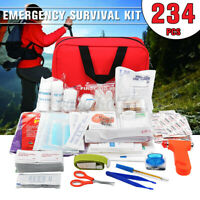 🇦🇺 234Pcs Upgraded Emergency Survival Kit Outdoor Sports Tactical Hiking ❀ ✯