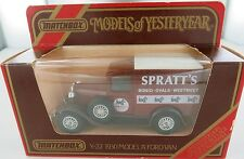 MATCHBOX MODELS OF YESTERYEAR Y-22 1930 MODEL A FORD VAN SPRATTS LIMITED EDITION
