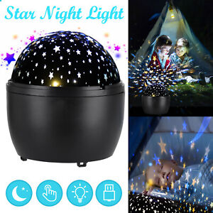 LED Projector Lamp Moon Sky Starry Star Night Light Baby Mood Kids Bedroom Gift