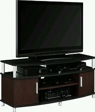 48 Inch TV Stand Black and Cherry Color Entertainment  Furniture Storage Cabinet