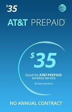 AT&T $35 Prepaid Monthly Calling Plan With 1 Month Service Included
