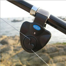 LED Light Electronic Fish Bite Alarm Finder Sound Alert Bell Clip On Fishing Rod
