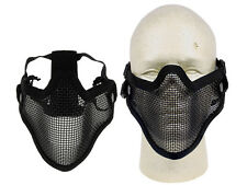 Airsoft P-force Black Lower Half Face Metal Wire Mesh Mask