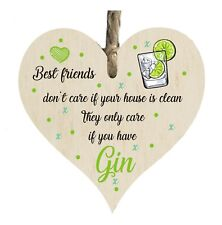 Best Friends Gin Funny Quote Wooden Novelty Plaque Sign Gift htc28