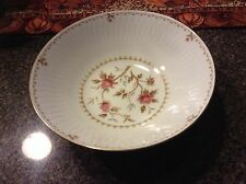 MONTAIGNE SANGO ROSE FLORAL PATTERN WITH GOLD TRIM  SERVING BOWL @LOOK@